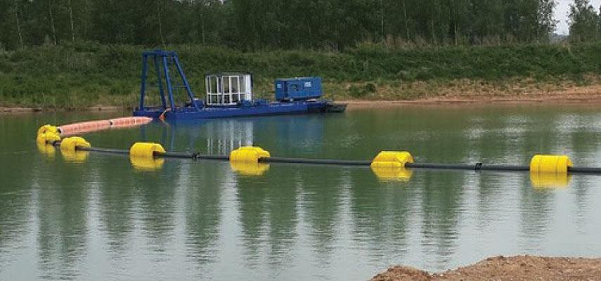 Slurry pipeline floats
